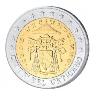 2 Euro-Kursmünze 2005 Sedisvakanz