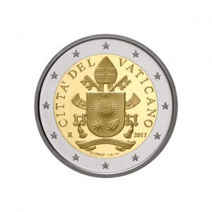 Vatikan 2 Euro-Kursmünze 2017 Päpstliches Wappen