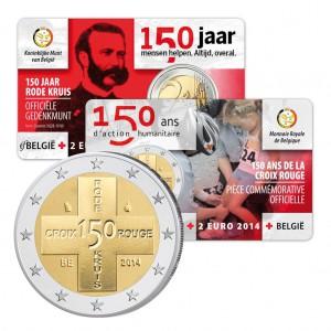 Belgien 2 Euro-Gedenkmünze 2014 in CoinCard