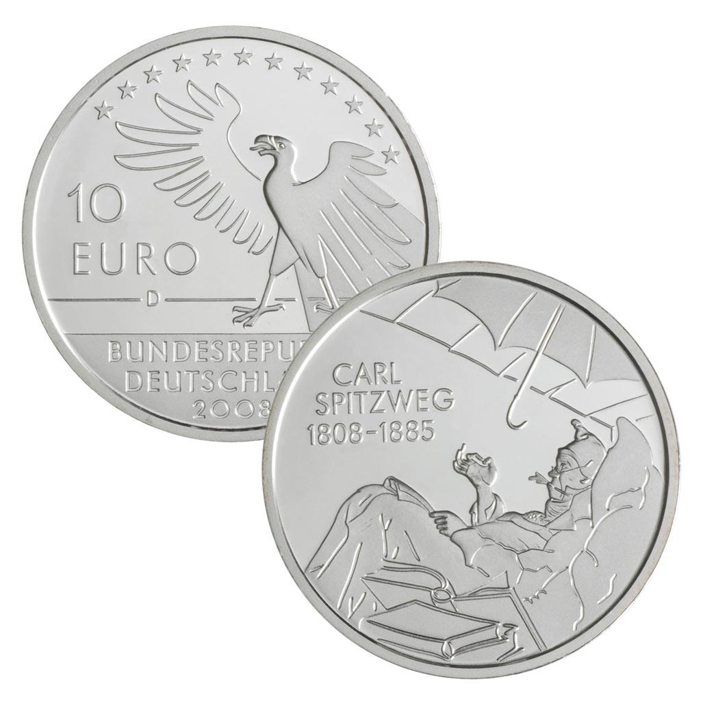 10 Euro Münzen Aus Deutschland 2008 Primus Münzen Blog