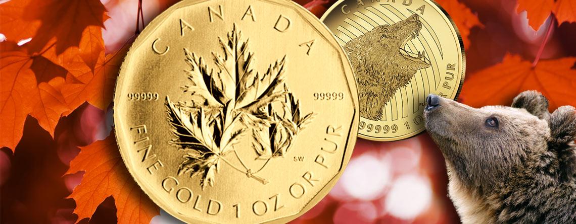 Das reinste Gold der Welt aus Kanada: Vom Super Maple zum brüllenden Grizzly – je 999,99er Gold (Five Nine Fine)