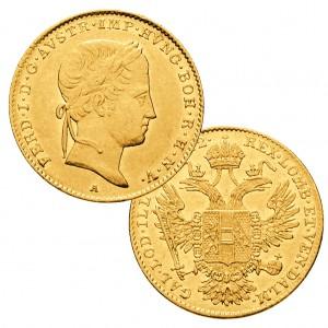 """Österreich 1 Dukat """"Ferdinand I."""", 986er Gold, 3,49g"""