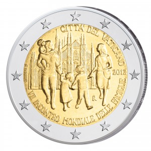 2 Euro-Gedenkmünze 2012 – Weltfamilientreffen Mailand