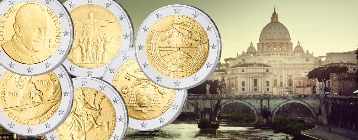 Vatikan: 2 Euro-Kursmünzen und 2 Euro-Gedenkmünzen 2004 bis heute im Überblick. Motive, Themen, Informationen