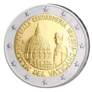 """2 Euro-Gedenkmünze 2016 """"200 Jahre Gendarmeriekorps der Vatikanstadt"""