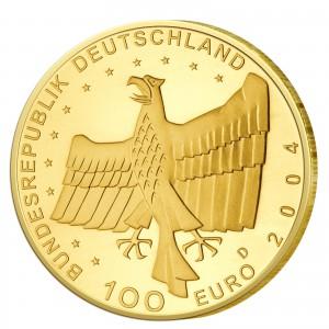 Wertseite der Münze BRD 100 Euro 2004 UNESCO Weltkulturerbe - Bamberg