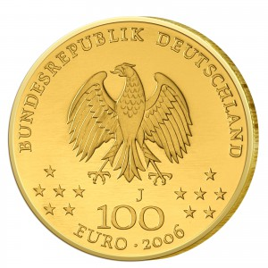 Wertseite der Münze BRD 100 Euro 2006 UNESCO Weltkulturerbe - Weimar