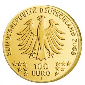 Wertseite der Münze BRD 100 Euro 2008 UNESCO Welterbe – Goslar