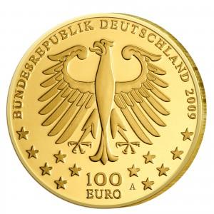 Wertseite der Münze BRD 100 Euro 2009 UNESCO Weltkulturerbe - Trier