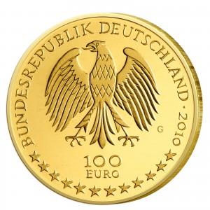 Wertseite der Münze BRD 100 Euro 2010 UNESCO Weltkulturerbe - Würzburg