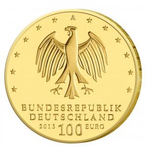 Wertseite der Münze BRD 100 Euro 2013 UNESCO Weltkulturerbe – Gartenreich Dessau-Wörlitz