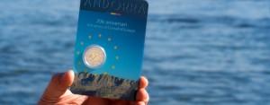 Andorra 2 Euro-Gedenkmünze 2014 Beitritt Europarat – endlich ausgegeben und bei uns am Bodensee angekommen... Fotos der geprägten Münze