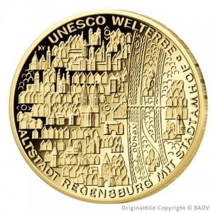 BRD 100 Euro 2016 UNESCO Weltkulturerbe – Altstadt Regensburg mit Stadtamhof