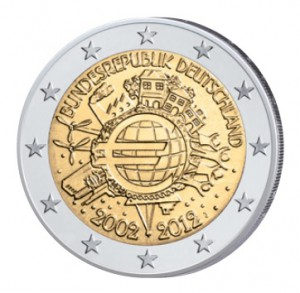Deutschland 2 Euro-Gemeinschaftsausgabe 2012 10 Jahre Euro-Bargeld
