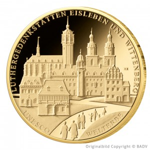 BRD 100 Euro 2017 UNESCO Welterbe – Luthergedenkstätten Eisleben und Wittenberg