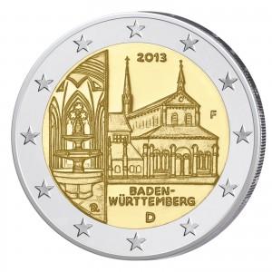 """BRD 2 Euro-Gedenkmünze 2013 """"Baden-Württemberg – Kloster Maulbronn"""""""