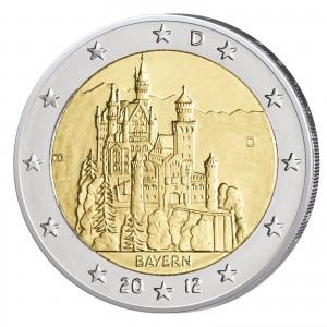 """BRD 2 Euro-Gedenkmünze 2012 """"Bayern – Neuschwanstein"""""""