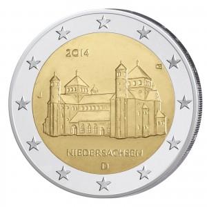 """BRD 2 Euro-Gedenkmünze 2014 """"Niedersachsen, Michaeliskirche"""""""