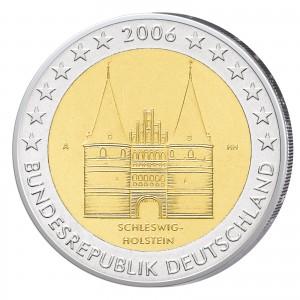 """BRD 2 Euro-Gedenkmünze 2006 """"Schleswig-Holstein - Holstentor"""""""