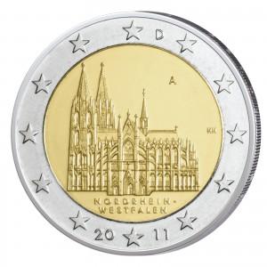 """BRD 2 Euro-Gedenkmünze 2011 """"Nordrhein-Westfalen - Kölner Dom"""""""