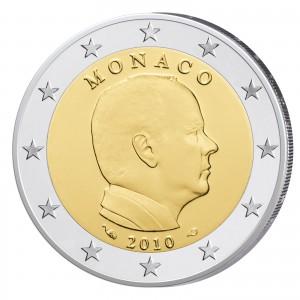 Monaco 2 Euro 2010 Polierte Platte Fürst Albert II.