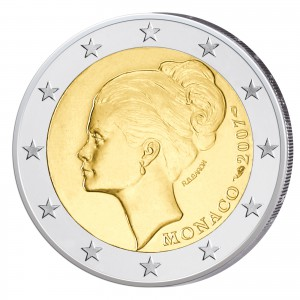 Monaco 2 Euro-Gedenkmünze 2007 25. Todestag Gracia Patricia