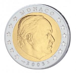 Monaco 2 Euro-Kursmünze 2003 Fürst Rainier III.
