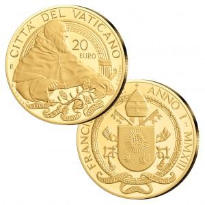 """Vatikan 20 Euro 2013 """"Päpste der Renaissance: Julius II., 917er Gold, 6g, Ø 21mm, PP, Auflage 2.300"""
