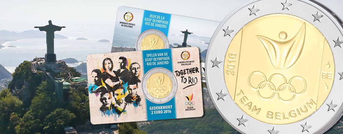 """Belgien 2 Euro-Gedenkmünze 2016 """"Olympische Spiele 2016 Rio de Janeiro, Team Belgien"""" – Ausgaben und Auflagen"""