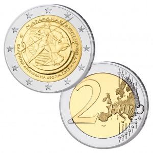 """Griechenland 2 Euro-Gedenkmünze 2010 """"2500. Jahrestag Schlacht bei Marathon"""""""