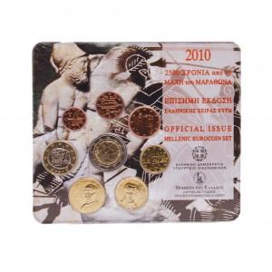 """Griechenland Euro-Kursmünzensatz 2010 st """"Marathon"""""""