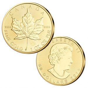 "Kanada 50 Dollars 2016 ""Maple Leaf"", 999,9er Gold, 1 Unze (31,1 g)"