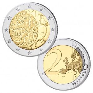 """Finnland 2 Euro-Gedenkmünze 2010 """"150 Jahre finnische Währung"""""""