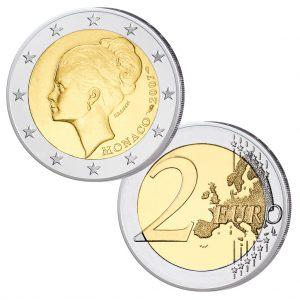 """Monaco 2 Euro-Gedenkmünze 2007 """"25. Todestag Gracia Patricia, im Etui, st, Auflage: 20.001"""