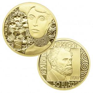 """Österreich 50 Euro 2012 """"Klimt und die Frauen - Adele Bloch-Bauer I"""", 986er Gold, 10g Feingewicht, Ø 22mm, PP, Auflage: 30.000"""