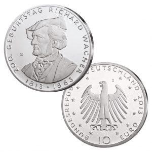 BRD 10 Euro 2013 200. Geburtstag Richard Wagner