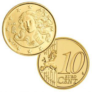 """Italien 10 Cent Kursmünze """"Venus von Botticelli"""""""