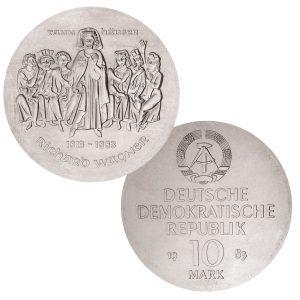 DDR 10 Mark 1983 100. Todestag Richard Wagner , 500er Silber, 17g, Ø 31mm, Prägestätte A (Berlin), Auflage: 49.500 (PP: 5.500), Jaeger-Nr. 1589