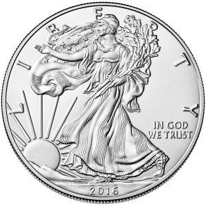 "Motivseite ""Walking Liberty"" der Münze USA 1 Dollar 2016 ""Silver Eagle"""