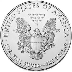 "Namensgebende Adler-Seite der Münze USA 1 Dollar 2016 ""Silver Eagle"", 999er Silber, 1 Unze (31.1g), Ø 40,60mm"