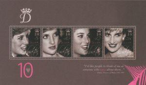 Gibraltar Gedenkblock Lady Diana zum 10. Jahrestag ihres Todes