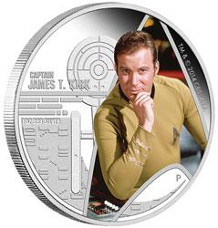 "Tuvalu 1 Dollar 2016 ""Captain Kirk"", 999er Silber, 1 Unze, Ø 40,60mm, Polierte Platte, Auflage: 5.000"