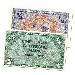 BRD 1/2 Deutsche Mark 1948 Bank Deutscher Länder, Rosenberg-Nr. 230