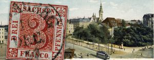 29. Juni 1850 – die erste Briefmarke des Königreiches Sachsen wird ausgegeben, der berühmte Sachsen Dreier
