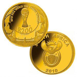 Südafrika 200 Rand 2010, 999,9er Gold, 1 Unze, Ø 32,69mm, PP, Auflage: 10.000, im Etui