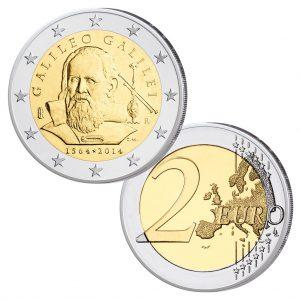 """Italien 2 Euro-Gedenkmünze 2014 """"450. Geburtstag Galileo Galilei"""""""