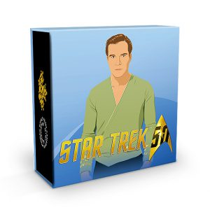 Umverpackung (hier Captain Kirk) Kanada 10 Can$ 2016, 999,9er Silber, 15,87g, Polierte Platte, Auflage: 12.500