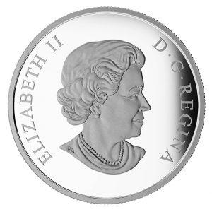 """Rückseite der Münze Kanada 20 CAN$ 2016 """"U.S.S. Enterprise"""", 999,9er Silber, 1 Unze (31,39g), Ø 38 mm Durchmesser, im Etui mit Echtheitszertifikat, Polierte Platte, Auflage: 11.500"""