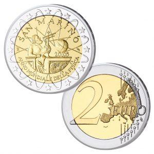 """San Marino 2 Euro-Gedenkmünze 2005 """"Jahr der Physik"""""""