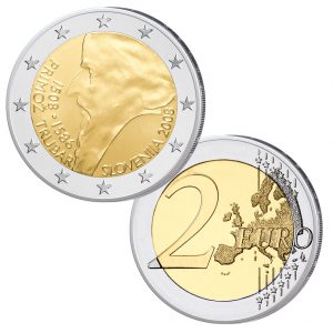 Slowenien 2 Euro-Gedenkmünze 2008 500. Geburtstag von Primož Trubar